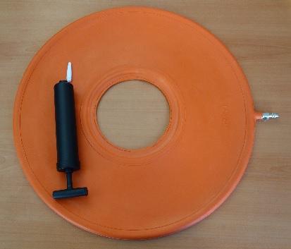 Гумен кръг санитарен, антидекубитален с помпа