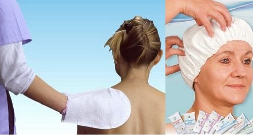 Шапка и ръкавица за безводно миене