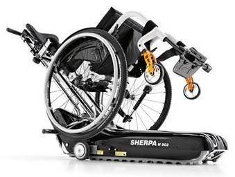 Стълбищен катерач Sherpa с инвалидна количка