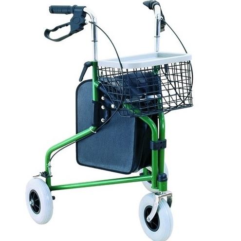 Ролатор с 3 колела, кошница, табла и чанта