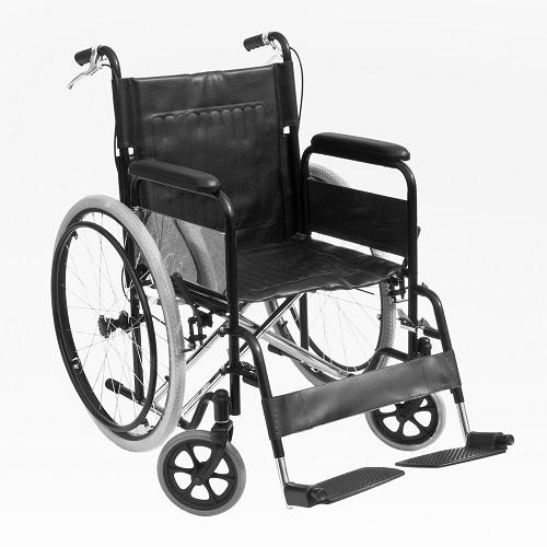 Инвалидна количка с чужда помощ и рингове. Спирачки за придружаващият