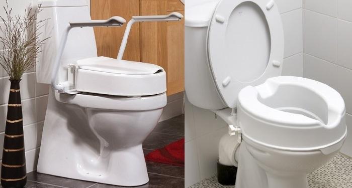 При сменена става повдигната тоалетна