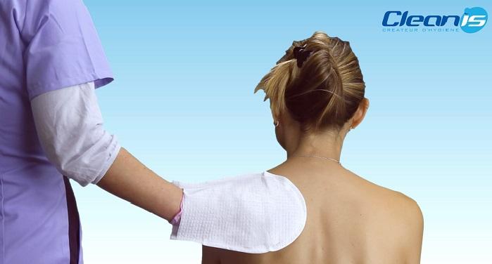Ръкавица за сухо измиване на тяло, глава, Cleanis