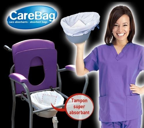 Торбички за тоалетни столове и подлоги с абсорбатор CareBag® на Cleanis