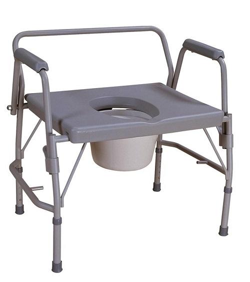 За хора до 225кг стол тоалетен инвалиден