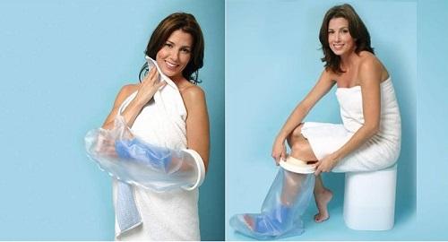 Протектори, прозрачни защитни ботуши и ръкави при къпане