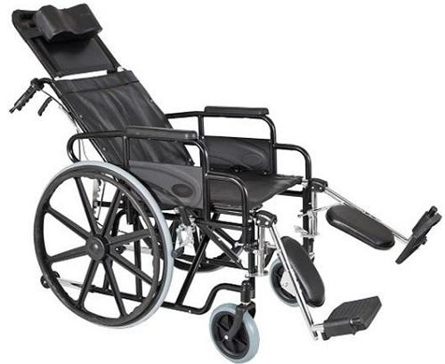 Инвалидна количка 0809236 превръщаща се в легло, стъпенки за подбедриците