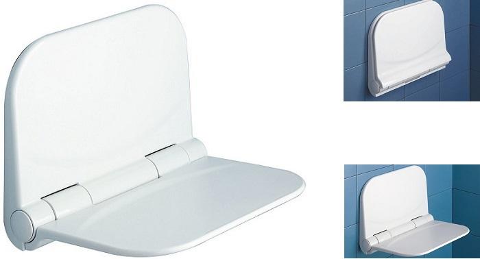 Сгъваема седалка за баня, закрепване към стената