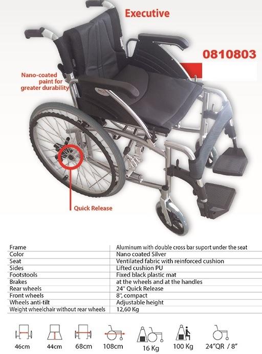 Инвалидна количка лека алуминиева рингова модел 0810803