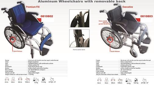 Алуминиеви леки инвалидни колички рингови