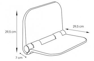 Сгъваем стол седалка за баня размери