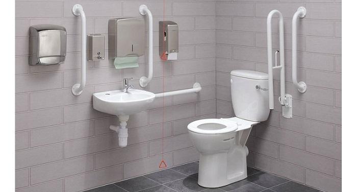 За инвалиди обзавеждане, оборудване тоалетна, баня