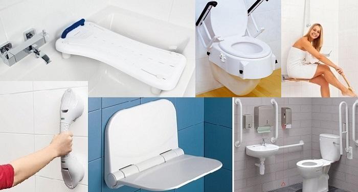 Баня и тоалетна за здрави и за болни хора, аксесоари