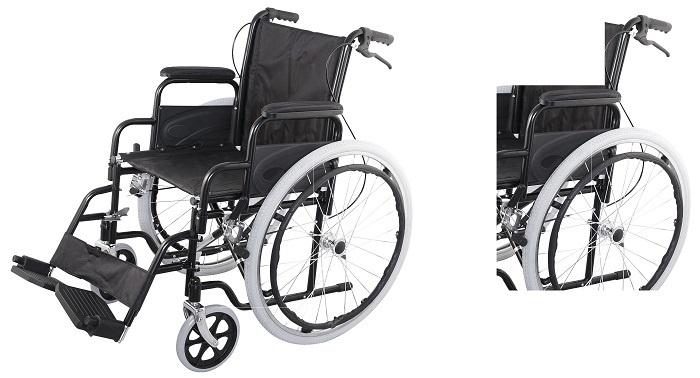 Допълнителни спирачки на инвалидни колички за придружителя