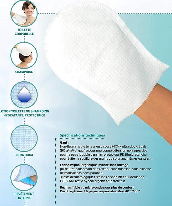 Ръкавица за сухо измиване на Dr Helewa