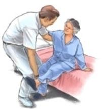 Смяна на колянна става Сядане от легнало положение